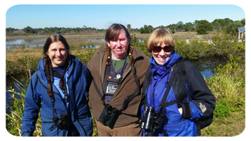 Paddy with two lady birders.